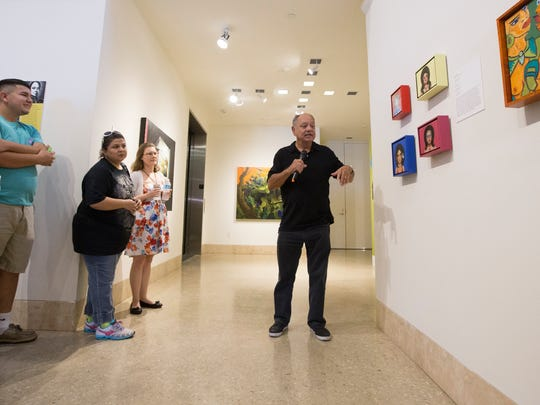 Cheech Marin, art collector, gives a gallery talk at