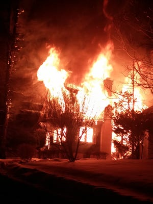 A house at 3 Park Ave. in Airmont was destroyed by flames early Thursday morning.