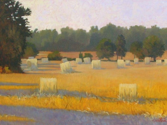 """August Morning in Door County,"" oil by Jim Leatham, part of the 41st Juried Annual exhibit at the Miller Art Museum."