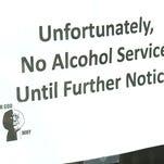 Sign on door of Folsom Tap House
