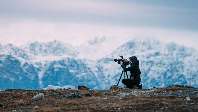 VICE News producer Claire Ward shooting for VICE News Tonight in Nunavut, Canada