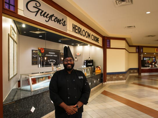 Chef Taurian Guyton at his new restaurant Guyton's