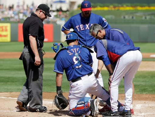 AP Padres Rangers Spring Baseball