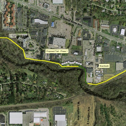 This aerial image shows the first phase of a proposed