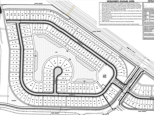 A conceptual plan by Argo Land Development for a future residential community near Manatee Middle and Elementary schools at U.S. 41 East and Manatee Road in East Naples.