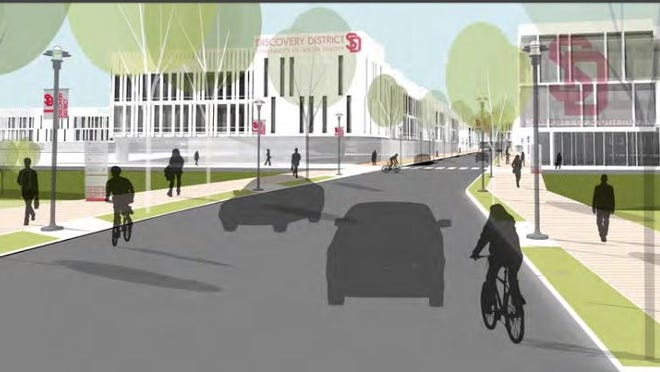 A rendering of the USD Discovery District.