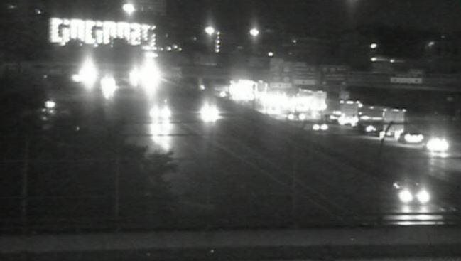 All southbound lanes on Interstate 71/75 were closed for a flipped vehicle just before the Brent Spence Bridge on Friday morning.