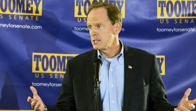 Pat Toomey is a Republican incumbent in the U.S. Senate from Pennsylvania. His hold on his seat is seen as tenuous.