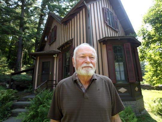 Harvey Flad, an historic landscape preservationist, is photographed at Springside, Matthew Vassar's estate in Poughkeepsie on July 17, 2017.