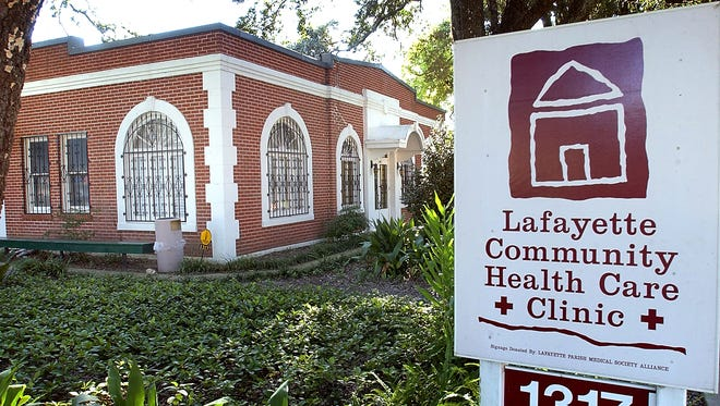 Front of Lafayette Community Health Care Clinic on Jefferson St.