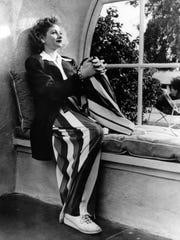 Lucy poses in a window seat at El Mirador Hotel circa