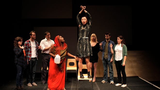 """A scene from a """"One-Minute Play Festival"""" presented by Primary Stages in New York City. The Know Theatre of Cincinnati will host a second edition of an all-Cincinnati """"One-Minute Play Festival"""" July 10-12 at the Know, 1120 Jackson St., Over the Rhine."""