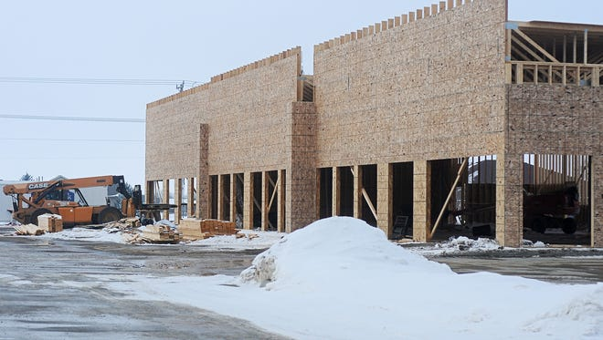 A strip mall that will have two buildings is being constructed at Louise Avenue and 85th Street.