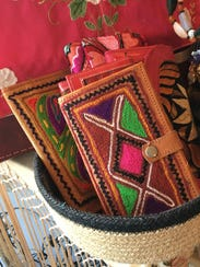 Leather wallets from Mexico, $17-$35.