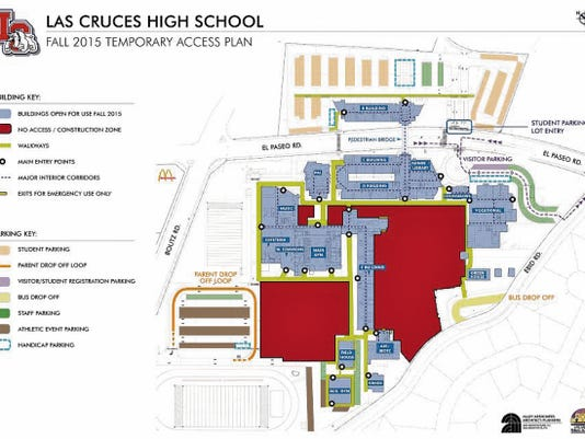 Las Cruces High School access plan for fall 2015.