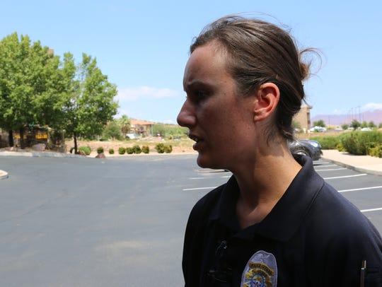 St. George Police Information Officer Lona Trombley