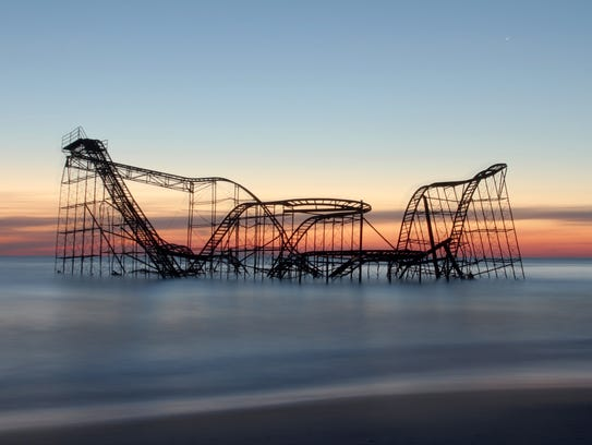 The Jet Star rollercoaster that was swept off the Casino