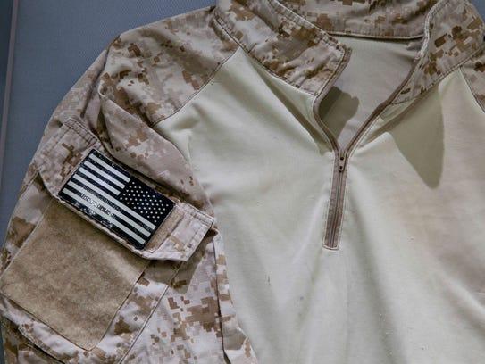 The fatigue shirt worn by Navy SEAL Robert O'Neill