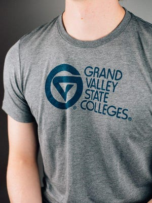 One of Homefield's GVSU vintage t-shirt designs from when the school was known as Grand Valley State Colleges
