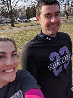 Megan and Eric Bixler walked a marathon while golfing to raise money for First Tee of West Michigan.