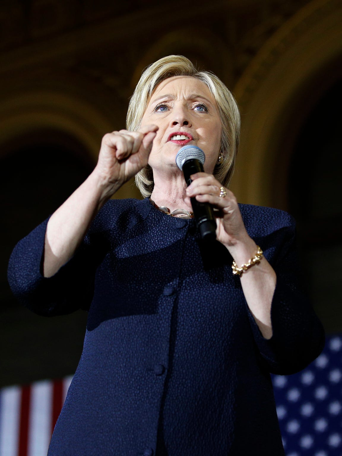 Hillary Clinton speaks in San Francisco on May 26,