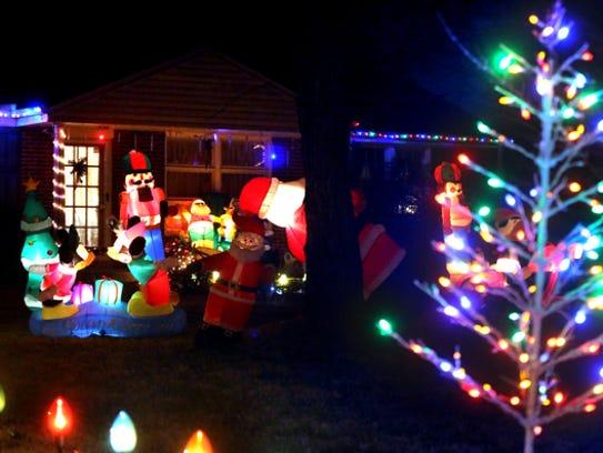 Christmas lights around Murfreesboro.