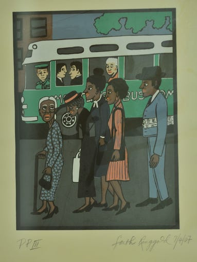 New exhibit going up at the Freedom Rides Museum on Wednesday, May 21, 2014.