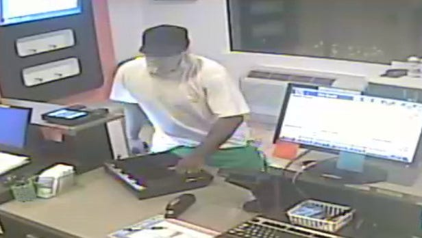 Fairview Township Police are asking for help in identifying this man seen on April 18, committing an armed robbery at the Motel 6 at 200 Commerce Drive.