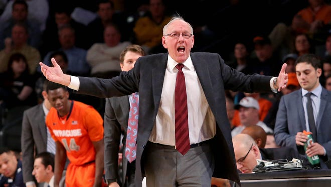 Syracuse Orange head coach Jim Boeheim's appeal of his nine-game suspension is still under review.