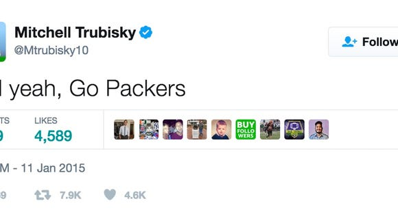 NFL fans dug up Mitch Trubisky's old tweets, and he really likes the Packers