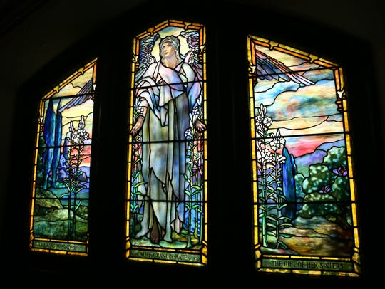 The Angel of Resurrection stained glass window at The