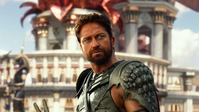 """Gerard Butler stars as Set in """"Gods of Egypt."""""""
