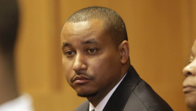Former Michigan State Senator Virgil Smith sits in the 36th Disctrict Courtroom of Judge Michael Wagner Friday June 12, 2015.