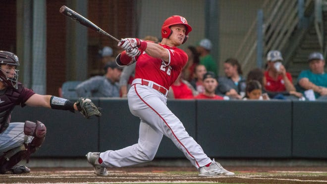UL's Daniel Lahare hit a two-run home run in the ninth inning Sunday to lead the Cajuns to a 9-7 win over Georgia State.