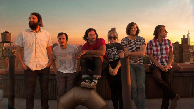 Seattle-based indie band The Head and the Heart is at the Taft Theatre on Friday. Band members, from left, Chris Zasche, Kenny Hensley, Jonathan Russell, Charity Rose Thielen, Tyler Williams and Josiah Johnson.