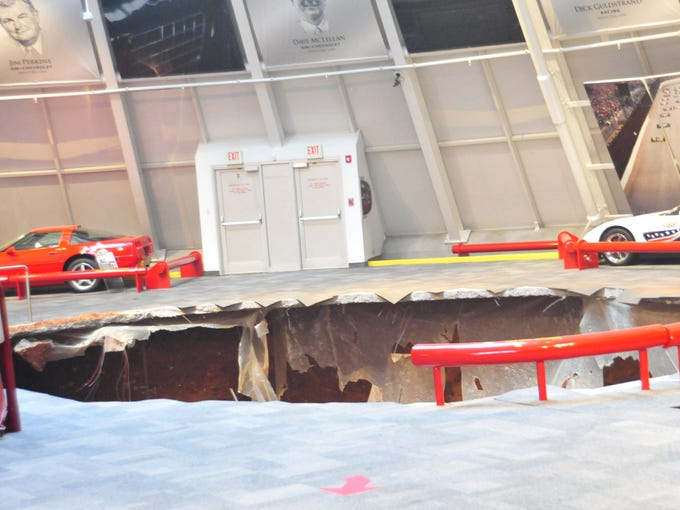 A 40-foot sinkhole at the National Corvette Museum in Bowling Green, Ky., swallowed eight of the cars on display Feb. 12.