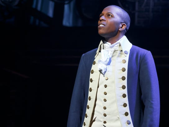 "Leslie Odom Jr. is seen in a scene from ""Hamilton"""