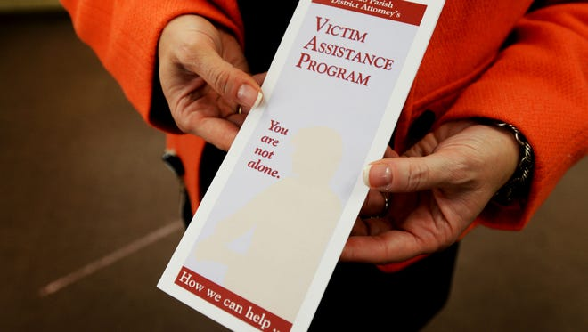 Pamphlets are available for those in need at the Victim Assistance Program in the Caddo Parish Courthouse.