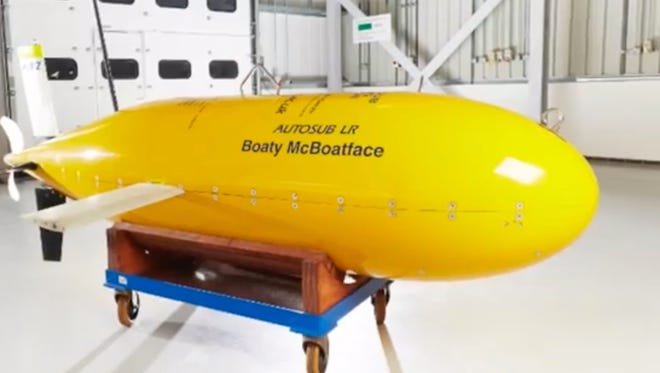 Boaty McBoatface, as seen in a video from Buzz60.