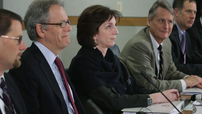 Assistant Secretary of State for Western Hemisphere Affairs Roberta Jacobson (center) leads a second round of normalization talks with a delegation of Cuban officials at the State Department in Washington, D.C.