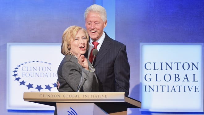 The Clintons in 2014.