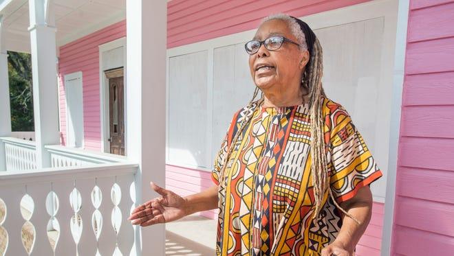 Georgia Blackmon, president of the Mother Wit Institute, talks about the historic Ella Jordan Home in Pensacola.