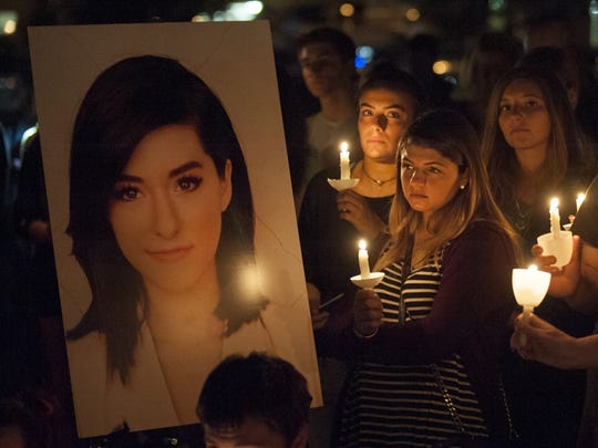 A candlelight vigil was held in the Evesham Township's Memorial Sports Complex in memory of Christina Grimmie, an Evesham native, who was slain in Orlando.  06.13.16