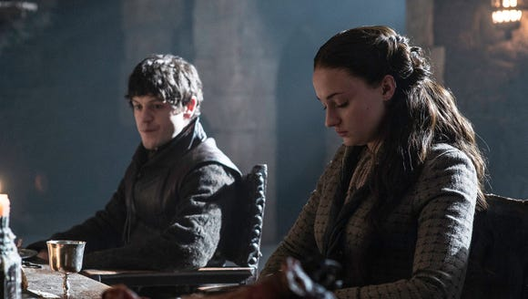 Ramsay Bolton and Sansa Stark in 'Game of Thrones.