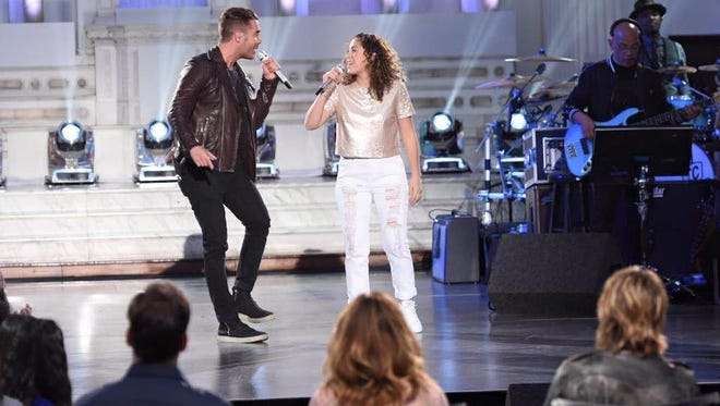"Nick Fradiani and Gianna Isabella petrone on ""American Idol"""