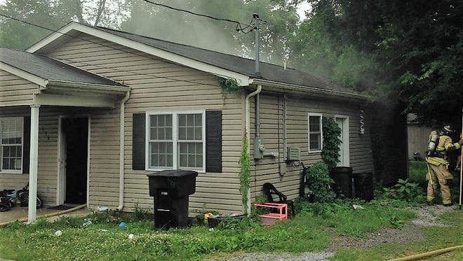 Two people were displaced from their East State Street home after a fire broke out there Saturday morning.