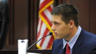 Brandon Vandenberg testifies at a hearing in 2014.