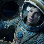 "This film image released by Warner Bros. Pictures shows Sandra Bullock in a scene from ""Gravity."" It remains an Os car favorite."