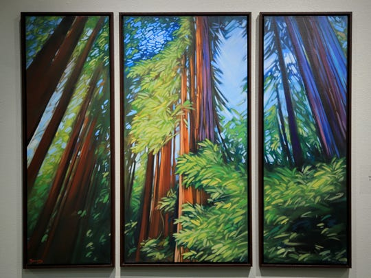 "Carol Bold's ""The Woodland Trio,"" an acrylic painting"