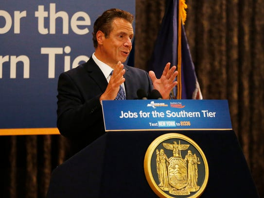 Governor Andrew Cuomo speaks during Wednesday's announcement